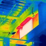 赤外線サーモグラフィカメラによる、雨漏れ調査を実施しております。