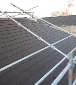 ソーラーパネル外しで屋根の軽量化(地震対策)【市川市】S様邸 屋根葺き替え(太陽光パネル取り外し)